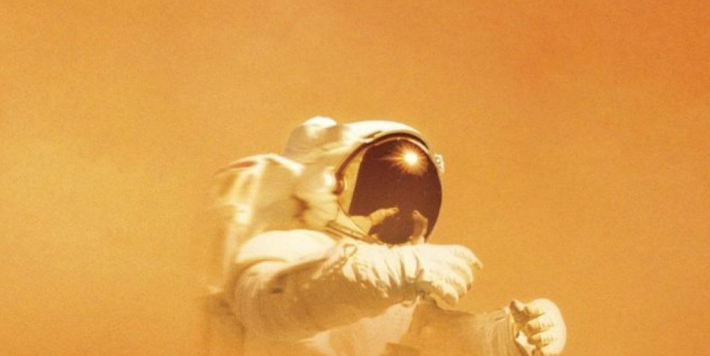 Utsnitt av omslaget til boka «The Martian».