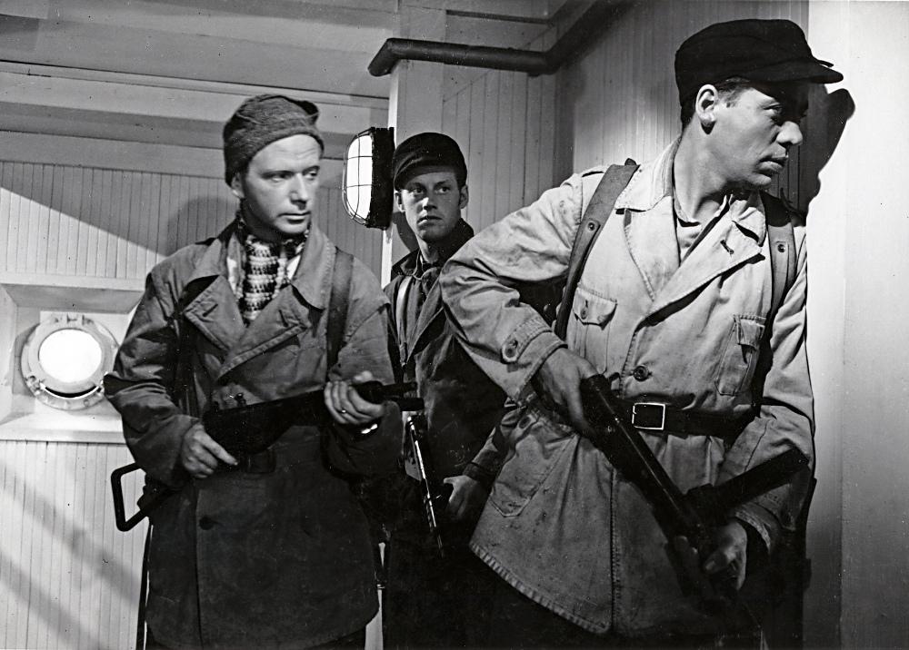 Stillbilde fra «Kampen om tungtvannet», den fransk-norske filmen fra 1948.