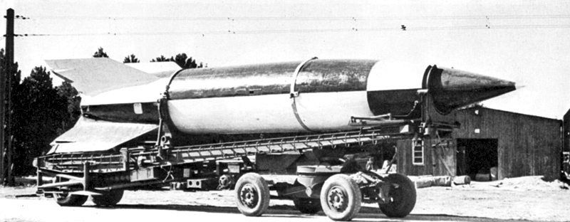 V-2-missil under transport. Foto: Imperial War Museum/Wikimedia Commons