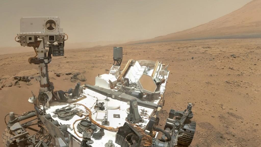 Curiosity tar en selfie. Foto: NASA/JPL-Caltech