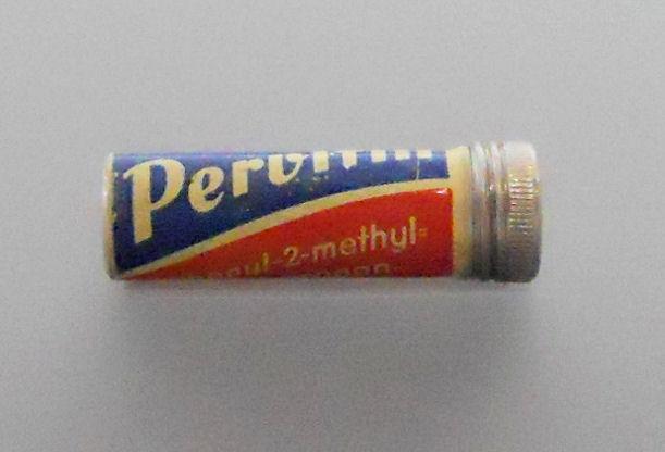 Pervitin-kapsel utstedt til tyske soldater ved fronten. Foto: Jan Wellen/Wikimedia Commons, CC-lisens BY-SA-3,0