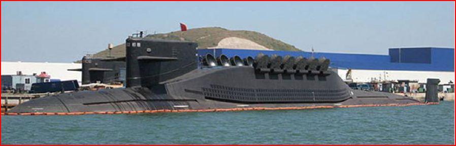 Kinas Type 094 atomdrevne ubåter, først satt i drift i 2007. Foto: Navy Office of Legislative Affairs, offentlig eiendom, via WIkimedia Commons.