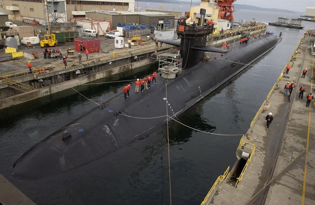 USS Michigan, en av USAs ubåter i Ohio-klassen, verdens mektigste. Foto: U.S. Navy/Brian Nokell, via Wikimedia Commons
