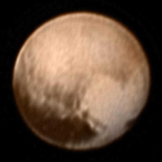 Pluto, knipset av LORRI-kameraet 7. juli. Foto: NASA