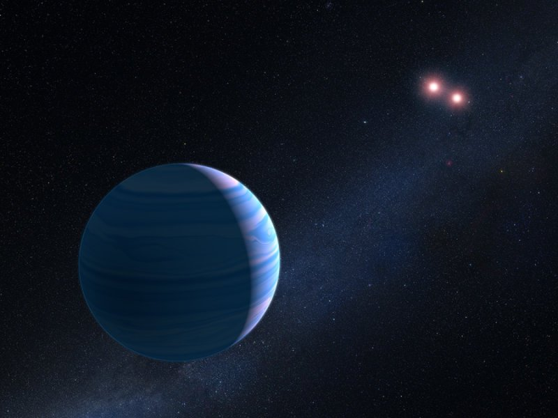 Illustrasjon: NASA, ESA, and G. Bacon (STScI)
