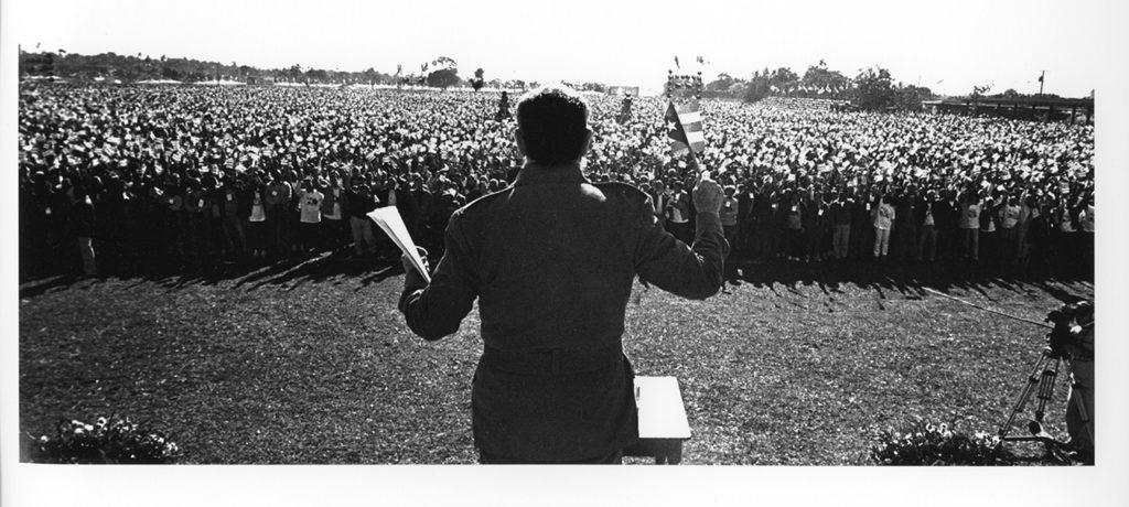 Castro er kjent for sine lange taler. Foto: «Fidel Castro: The Lost Files» / Fox / Roberto Salas